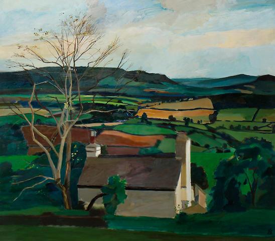 Ben Levene RA (British, 1938-2010) Hereford Landscape