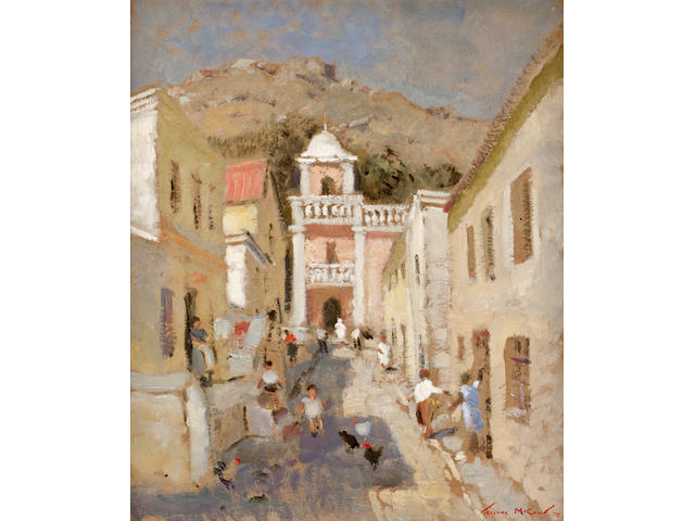 Terence John McCaw (South African, 1913-1978) Malay Quarter