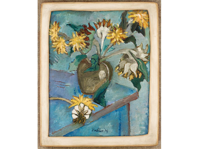 Alexis Preller (South African, 1911-1975) sunflowers