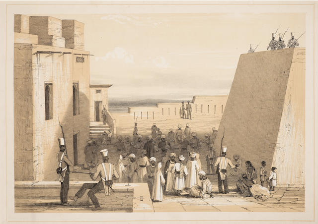 AFGHANISTAN WINGATE (THOMAS) Prisoners at Ghuznee; and 4 other tinted lithographs from the series, [1842] (5)