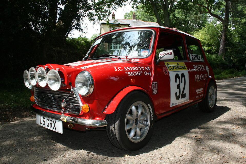 Ex-Rover France, 1995 Monte Carlo Rally, Jean-Claude Andruet/Biche,1994 Rover Mini Cooper 'Monte Carlo Edition' Group A Saloon  Chassis no. SAXXNNAYNBD094130