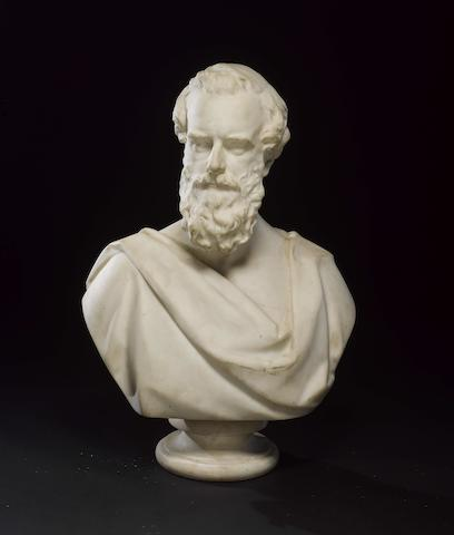 Matthew Noble R.A., English (1817-1876) A marble bust of Henry Pelham-Clinton, 5th Duke of Newcastle-under-Lyne (1811-1864)