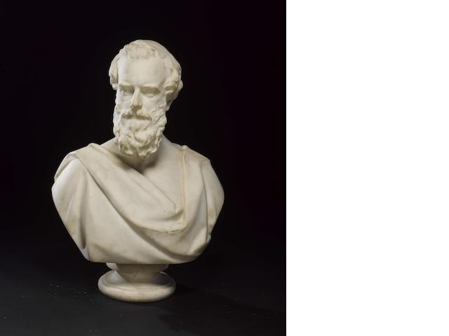 Matthew Noble R.A. (c.1817-1876) A marble bust of Henry Pelham-Clinton, 5th Duke of Newcastle-under-Lyne (1811-1864)