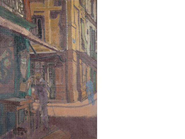 Walter Richard Sickert (Austrian, 1860-1942) A street in Dieppe 60 x 42 cm. (23 1/2 x 16 1/2 in)