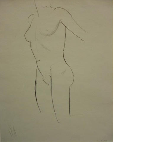 Eric Gill (British, 1882-1940) Female nude study