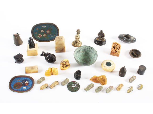 A collection of Chinese artefacts, various dates
