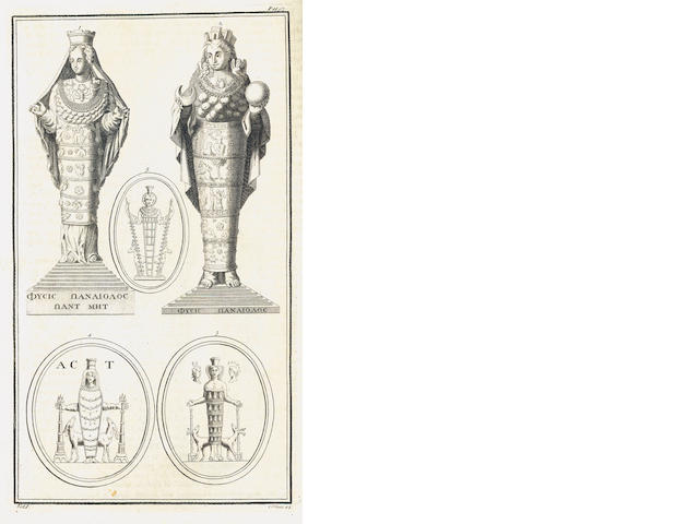 MONTFAUCON (BERNARD de) Antiquity Explained, and Represented in Sculptures, vol. one only, 1721; and 13 others (14)