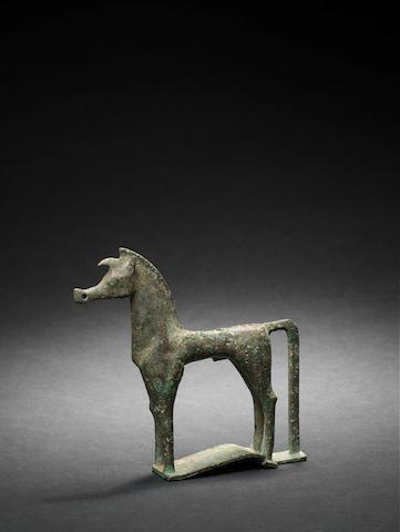 A Greek geometric bronze horse