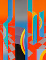 Anthony Benjamin (British, 1931-2002) Orange Abstract; Blue Abstract Two Screenprints printed in colours, on wove, each signed and inscribed variously in pencil, each an artist's proof aside from the edition, with full margins, 760 x 570mm (30 x 22 1/2in) (SH)