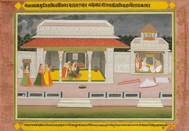 Krishna Lila Jaipur, circa 1800-1820