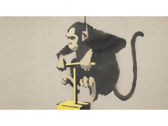 Banksy (b.1975) Monkey Detonator