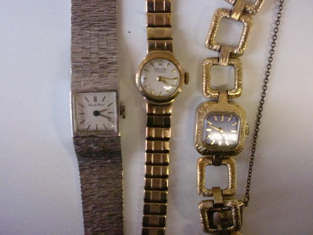 A lot of 3 lady's bracelet watches