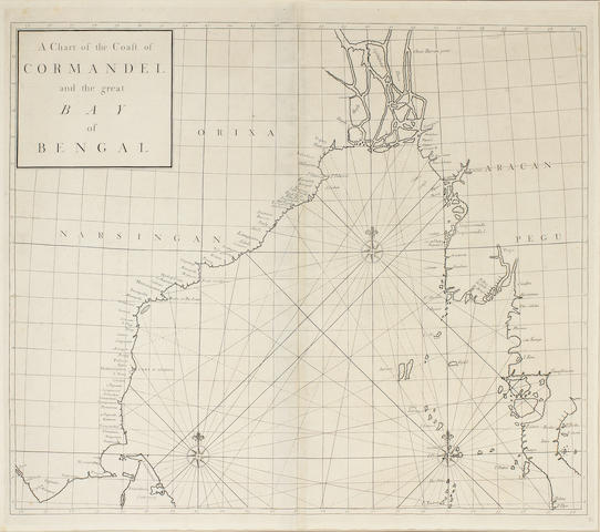 BAY OF BENGAL A Chart of the Coast of Cor[o]mandel and the Great Bay of Bengal, [c.1800]