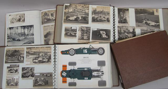 Three scrapbooks relating to 1960s Grand Prix cars and racing,