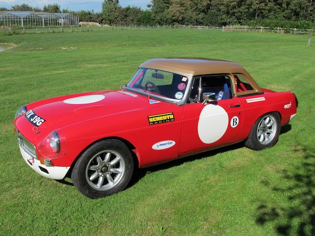 1968 MGC Competition Roadster  Chassis no. G-CN1/1707-G Engine no. 29GRUH1873