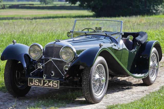 1938 SS100 Jaguar 3½-Litre Roadster  Chassis no. 39030