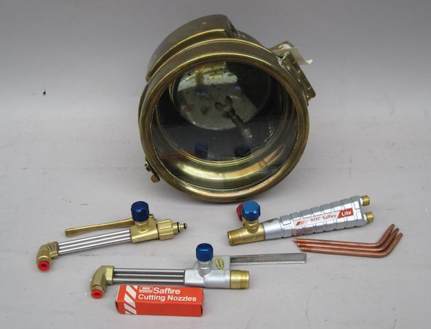 An 8 inch acetylene  motor lamp,