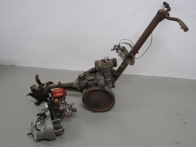 A Vincent 'Versatiller' rotavator,