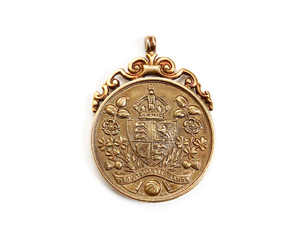 1920 F.A. Cup final runner ups medal awarded to Huddersfield Towns Willie Watson