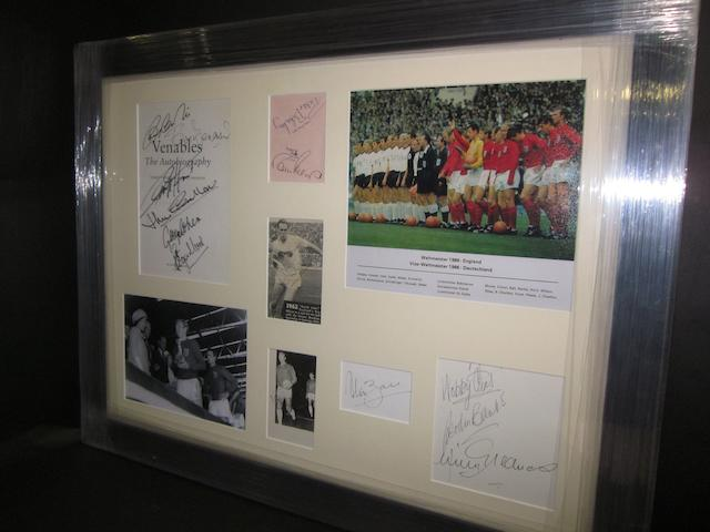 1966 England World Cup hand signed montage