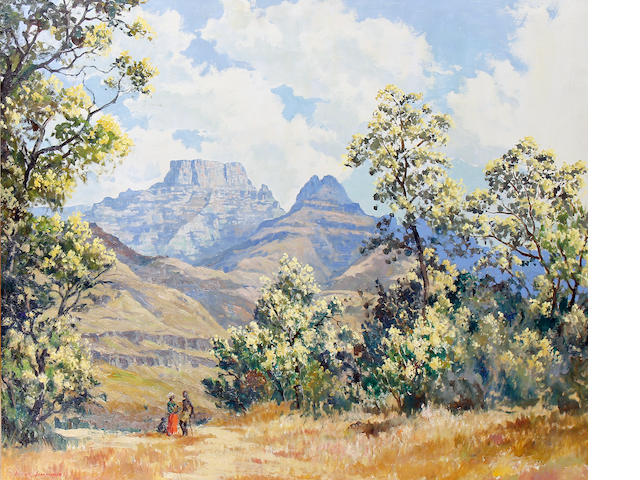 Victor Simmonds (20th Century) Drakensburg Mountains