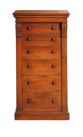 A mid Victorian mahogany Wellington chest
