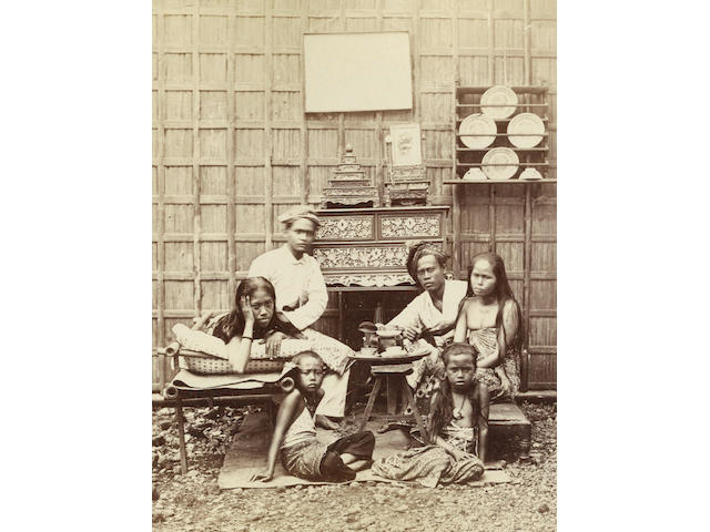 DUTCH EAST INDIES WOODBURY (WALTER BENTLEY) and JAMES PAGE A series of six albums containing 248 images, including portraits of notable Indonesian figures, ethnographic studies, Dutch colonial life and topographical views from Sumatra to The Moluccas, 1863 and later (6)