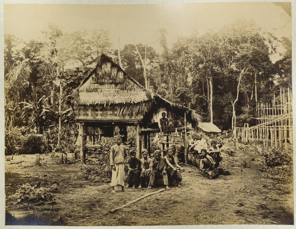 DUTCH EAST INDIES WOODBURY (WALTER BENTLEY) and JAMES PAGE. A series of six albums containing 248 images, including portraits of notable Indonesian figures, ethnographic studies, Dutch colonial life and topographical views from Sumatra to The Moluccas, 1863 and later (6)