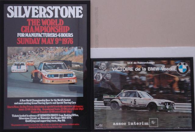 A 1976 Silverstone Manufacturers 6-Hour World Championship poster,
