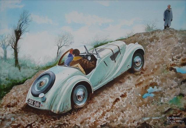 Ken Rush (1931-), 'BMW 328 Hill Climb',