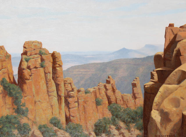 Willem Hermanus Coetzer (South African, 1900-1983) Valley of Desolation, Graaff Reinet