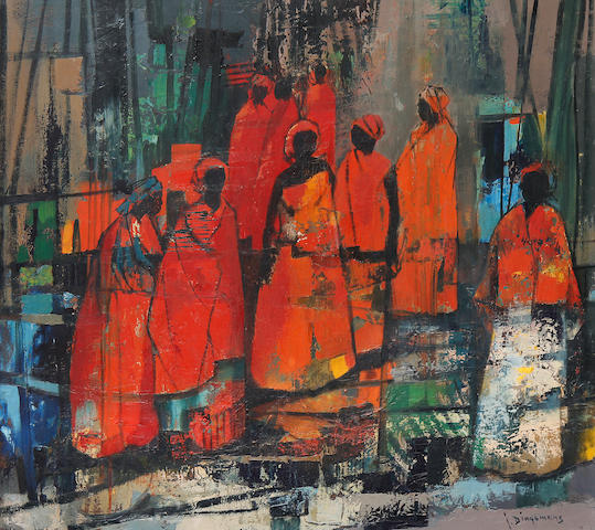 Jan Dingemans (South African, 1921-2001) African women
