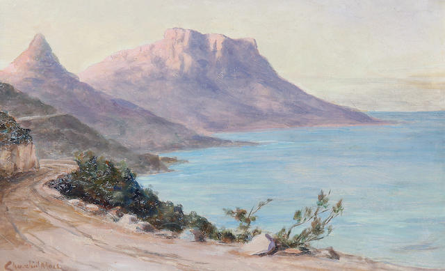 Edward Clark Churchill Mace (British/South African, 1863-1928) View towards Sandy Bay from Camps Bay
