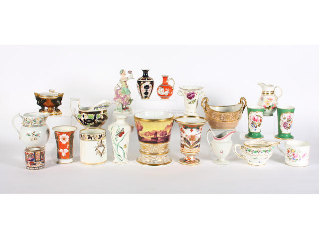 A group of English porcelain, 18th/19th century