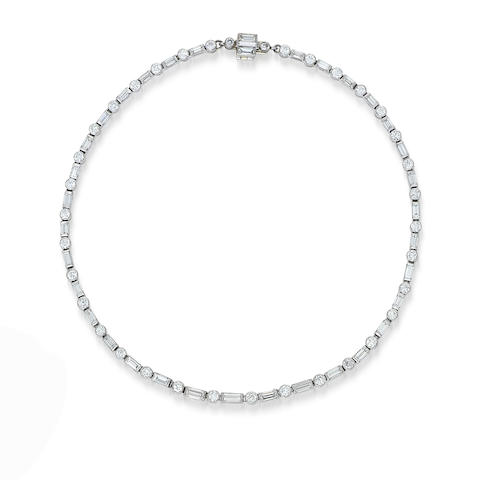 A diamond necklace,