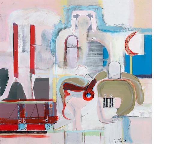 Sidney Goldblatt (South African, 1919-1979) Abstract figures