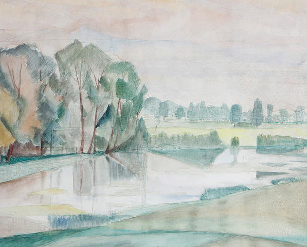 Maud Frances Eyston Sumner (South African, 1902-1985) Landscape study