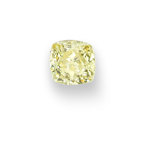 A fancy-coloured diamond single-stone ring (photographed unmounted)