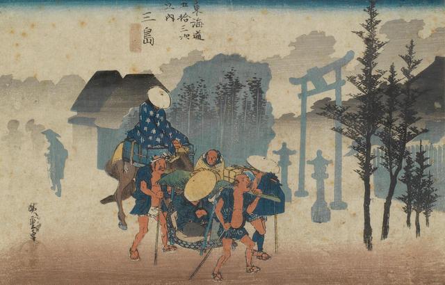 Katsuhika Hokusai (1760-1849), Ando Hiroshige (1797-1858) and Keisai Eisen (1790-1848) Early/mid 19th century