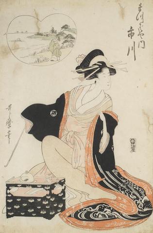 Kitagawa Utamaro (1753-1806), Utagawa Toyokuni (1769-1825), Chobunsai Eishi (1756-1829) and others Late 18th/early 19th century