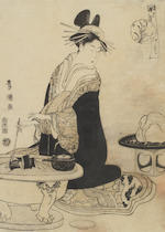 Kitagawa Utamaro (1753-1806), Utagawa Toyokuni (1769-1825), Chobunsai Eishi (1756-1829) and others Late 18th/early 19th century