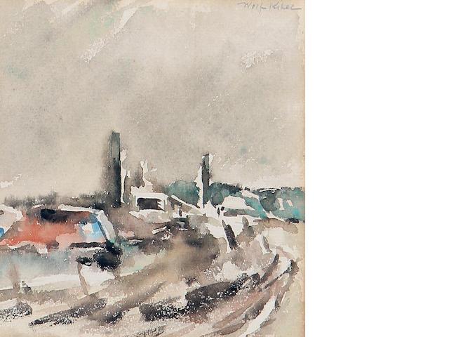 Wolf Kibel (Polish, 1903-1938) Landscape