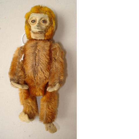 Miniature Schuco monkey perfume bottle