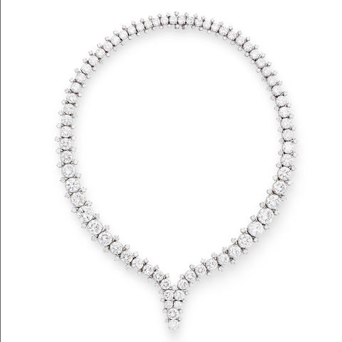 A diamond necklace, by Harry Winston