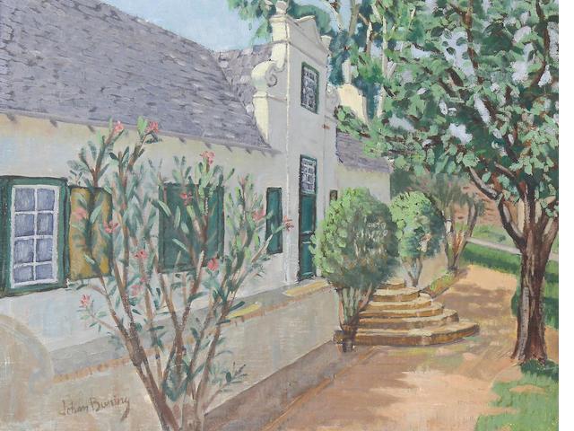Johan Buning (Dutch, 1893-1963) Cape cottage scene