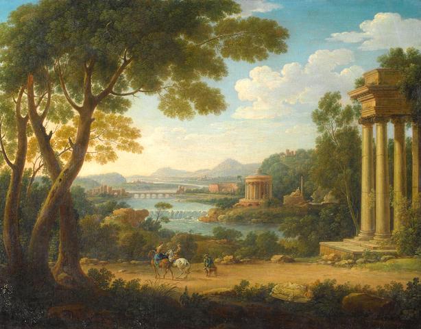 Hendrick Frans Van Lint, called Studio (Antwerp 1684-1763 Rome) An arcadian landscape unframed