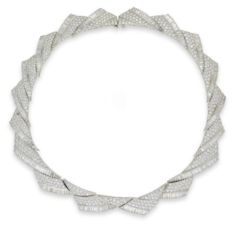 A diamond collar necklace, by Black Starr & Frost,