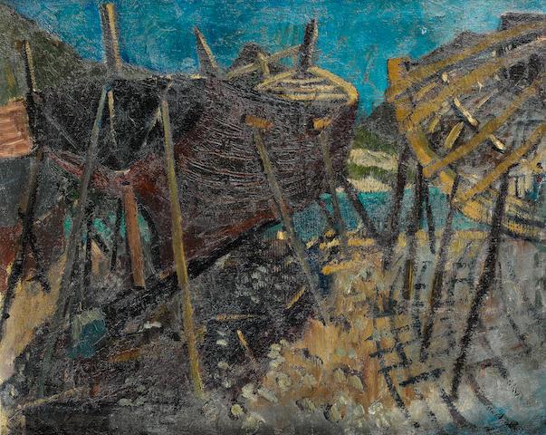 Freida Lock (South African, 1902-1962) Boatyards