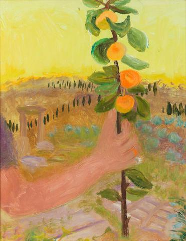 Winifred Nicholson (British, 1893-1981) Holding Oranges 53 x 43 cm. (21 x 17 in.)
