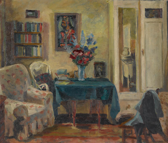 Maud Frances Eyston Sumner (South African, 1902-1985) Domestic interior